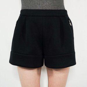 3.1 PHILLIP LIM Black Scuba Pleated Shorts